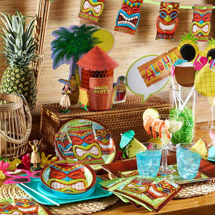 Tiki Time Party Supplies